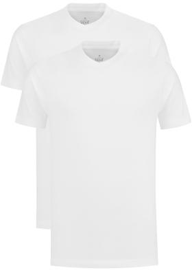 VENT wijd model T-shirt V-hals (2-pack), wit