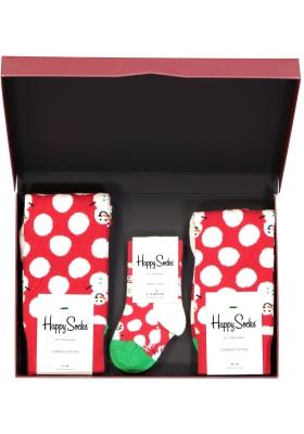 Happy Socks cadeauset, 3-pack Baby's eerste sneeuwpop (family pakket)