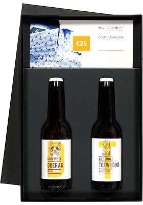 Heren cadeaubox altijd goed: Moll bier met Cadeaubon