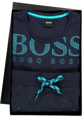 Hugo Boss heren pyjama set in cadeauverpakking, blauw