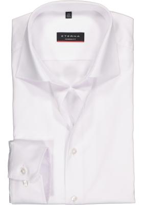 ETERNA modern fit overhemd, mouwlengte 7, niet doorschijnend twill heren overhemd, wit