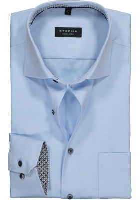 ETERNA Comfort Fit overhemd ondoorzichtig, lichtblauw twill (dessin contrast)