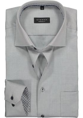ETERNA Comfort Fit overhemd ondoorzichtig, grijs twill (dessin contrast)