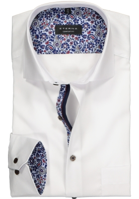 ETERNA Comfort Fit overhemd, wit (contrast)