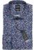 OLYMP Level 5 Body Fit overhemd, donkerblauw mini bloem dessin