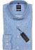 0766-64-11 OLYMP Level 5 Body Fit overhemd, lichtblauw mini bloem dessin