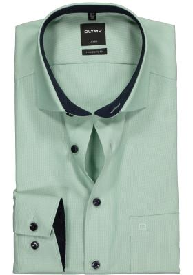 OLYMP Modern Fit overhemd, groen natté (contrast)