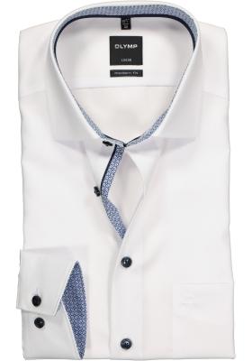 OLYMP Modern Fit overhemd, wit (contrast)