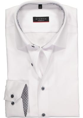 ETERNA Modern Fit overhemd, wit ondoorzichtig (contrast)