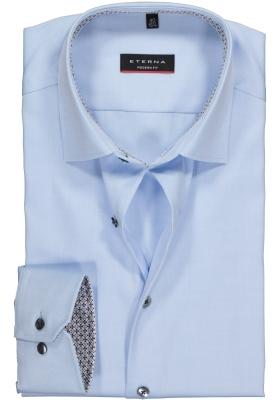 ETERNA Modern Fit overhemd, lichtblauw ondoorzichtig (contrast)