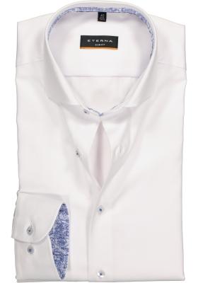ETERNA Slim Fit overhemd, niet doorschijnend wit twill (contrast)