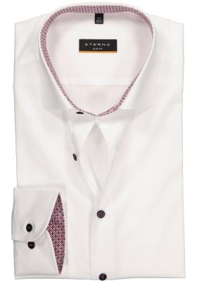 ETERNA Slim Fit overhemd, wit stretch (contrast)