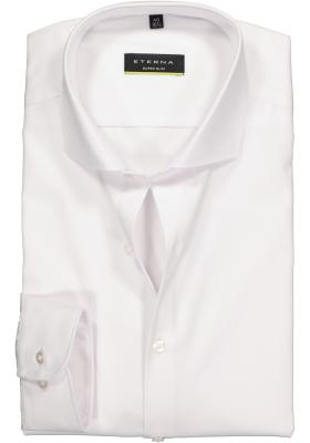 Eterna, Super Slim Fit overhemd, niet doorschijnend wit twill
