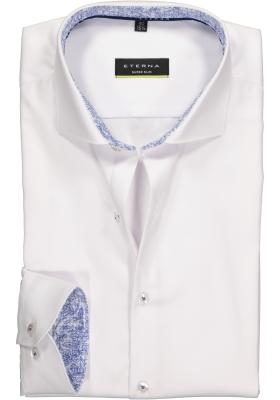 Eterna, Super Slim Fit overhemd, niet doorschijnend wit twill (contrast)