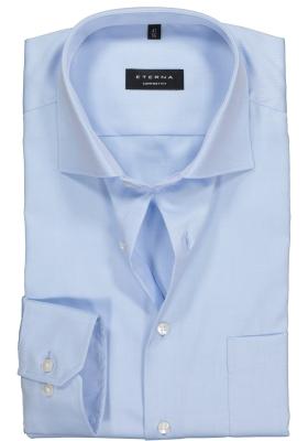 ETERNA comfort fit overhemd, mouwlengte 7, niet doorschijnend twill heren overhemd, lichtblauw