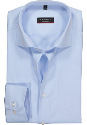 ETERNA Modern Fit overhemd, mouwlengte 72 cm, niet doorschijnend lichtblauw twill