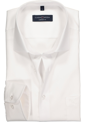 Casa Moda Comfort Fit overhemd, mouwlengte 72, wit twill