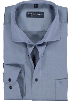 Casa Moda Comfort Fit overhemd, mouwlengte 72, blauw twill