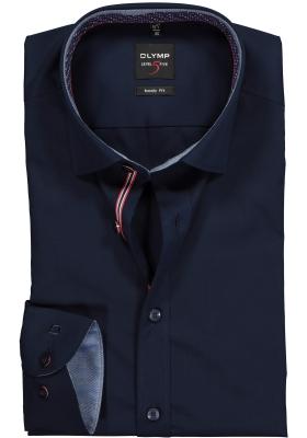 OLYMP Level 5 body fit overhemd, blauw (contrast)