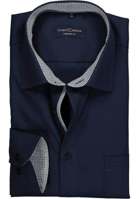 Casa Moda Comfort Fit overhemd, donkerblauw (contrast)