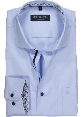Casa Moda Modern Fit overhemd, lichtblauw structuur (contrast)