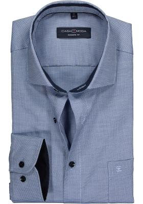 CASA MODA modern fit overhemd, licht- met donkerblauw structuur (contrast)