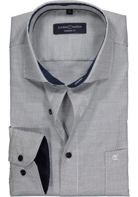 CASA MODA modern fit overhemd, blauw met wit structuur (contrast)
