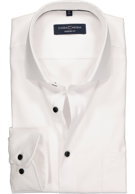 Casa Moda Modern Fit overhemd, wit structuur