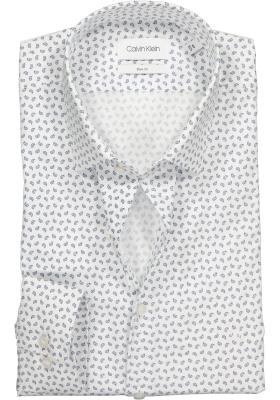 Calvin Klein Slim Fit printed, overhemd, blauw en wit paisley