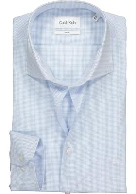 Calvin Klein Fitted overhemd, lichtblauw geruit