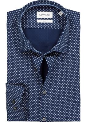 Calvin Klein Slim Fit, overhemd, blauw dessin