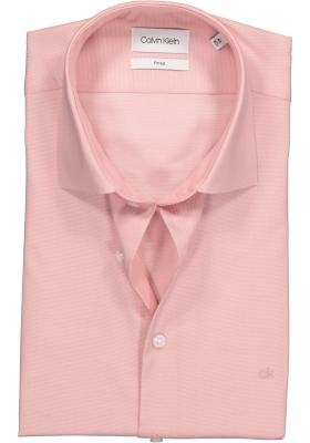 Calvin Klein Fitted overhemd, roze structuur