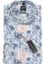 OLYMP No. 6 Six, Super Slim Fit overhemd, blauw dessin structuur