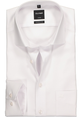 OLYMP Luxor modern fit overhemd, wit twill