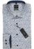 OLYMP Modern Fit overhemd, blauw, wit bruin dessin (contrast)