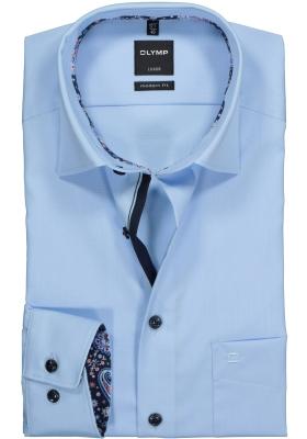 OLYMP Modern Fit overhemd, lichtblauw (contrast)