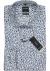 OLYMP Modern Fit overhemd, wit, licht- en donkerblauw dessin structuur