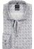 OLYMP Modern Fit overhemd mouwlengte 7, blauw, wit met bruin dessin