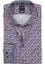 OLYMP Modern Fit overhemd mouwlengte 7, blauw en roze gebloemd (contrast)