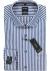 OLYMP Modern Fit overhemd mouwlengte 7, donkerblauw met wit gestreept (contrast)
