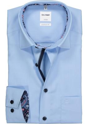OLYMP Comfort Fit overhemd, lichtblauw (contrast)