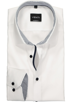 Venti Modern Fit overhemd, wit contrast