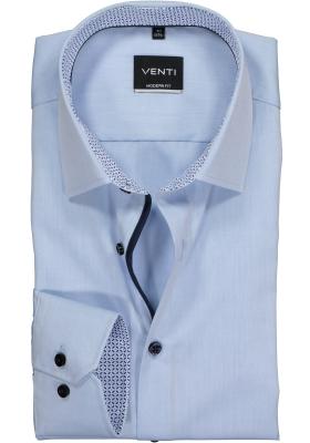 VENTI modern fit overhemd, lichtblauw (contrast)
