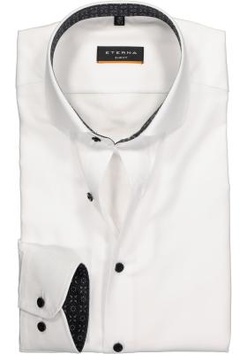 ETERNA Slim Fit overhemd, wit twill (contrast)