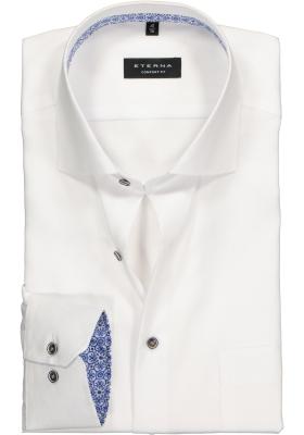 ETERNA Comfort Fit overhemd, wit structuur (contrast)