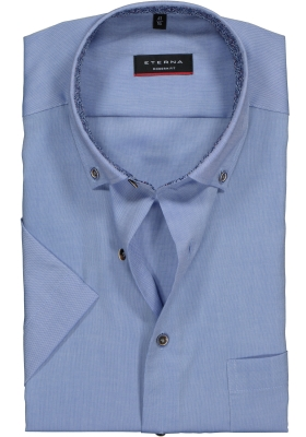 Eterna Modern Fit overhemd, korte mouw, lichtblauw (contrast)
