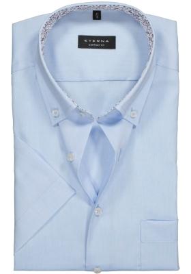 ETERNA Comfort Fit, korte mouw, lichtblauw Oxford (contrast)