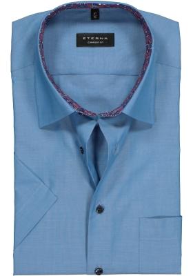 ETERNA Comfort Fit, korte mouw, blauw (contrast)