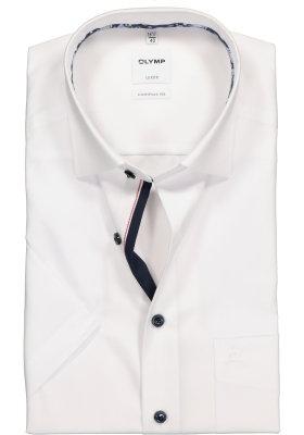 OLYMP Comfort Fit, overhemd korte mouw, wit (contrast)