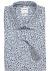 OLYMP Comfort Fit, overhemd korte mouw, wit, licht- en donkerblauw dessin structuur
